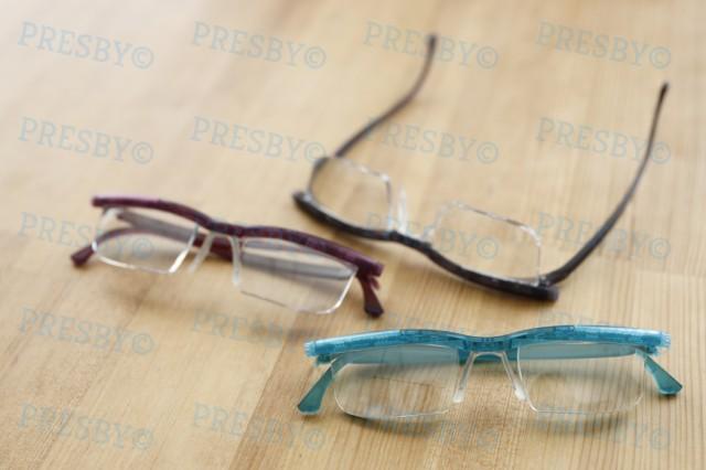 プレスビー ドゥーアクティブ 度数調節できる老眼鏡 遠視/老眼対応 UVカット ブルーライトカット 拡大鏡 度数 度数調整 アドレンズ プレ