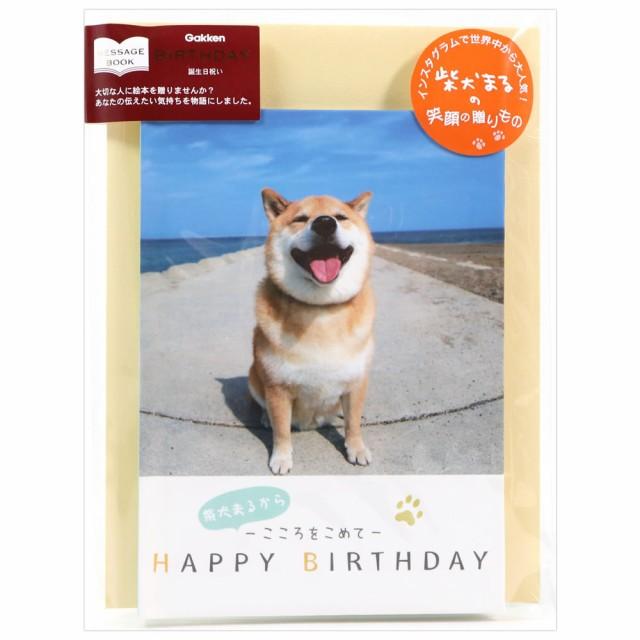バースデーカード メッセージブック 柴犬まる B100-33 学研ステイフル グリーティングカード Birthday Card お誕生お祝い