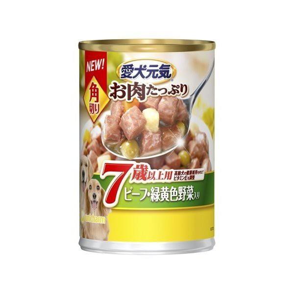 ユニ・チャーム 愛犬元気 缶詰 角切り7歳以上用 ビーフ野菜 375g ドッグフード