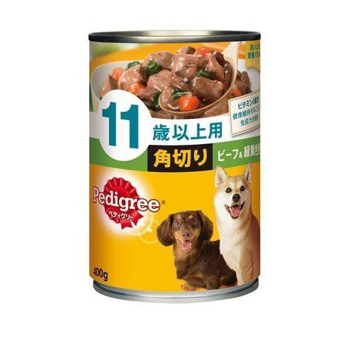 マース ペディグリー 缶詰 11歳以上用 角切り ビーフ&野菜 400g P135 ドッグフード