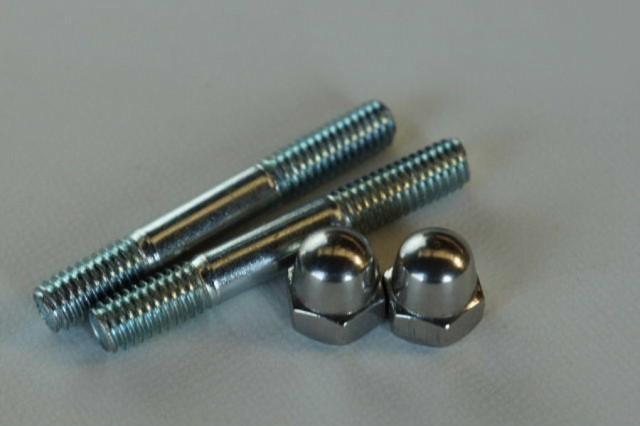 スタッド ボルト 6mm+M6P1.0-10HEXステンレス袋 ナット セット