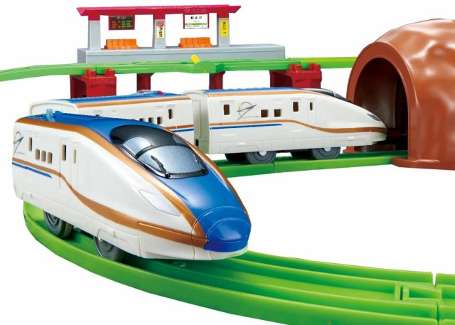 プラレール にぎやかアナウンス!サウンドE7系 新幹線 かがやき レールセット