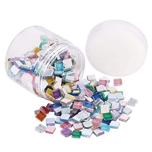 送料無料PandaHall Elite 約300個/箱 カラーモザイクタイル ガラスカボション宝石 家の装飾工芸品 DIY クラフト 手芸用品 飾り物パーツ