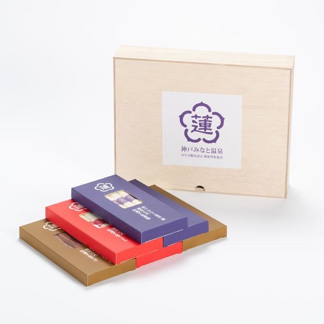 蓮オリジナル 播州古式特選 手延麺3種セット(桐箱入 6個)