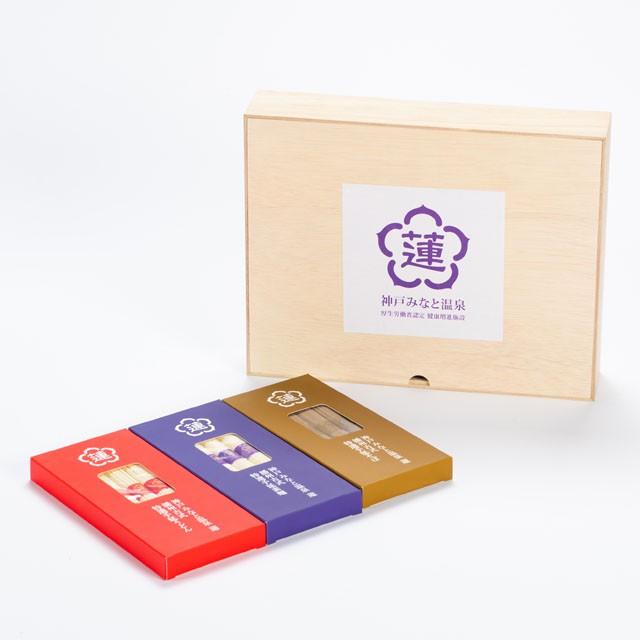 蓮オリジナル 播州古式特選 手延麺3種セット(桐箱入 3個)