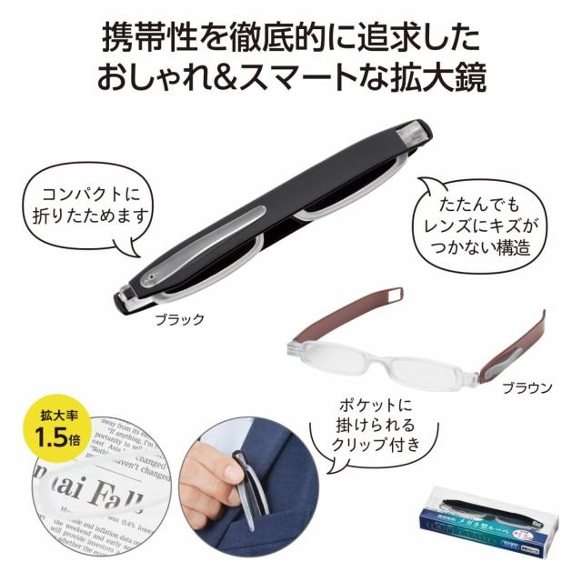 【40個セット販売:送料無料(一部地域を除く)】携帯便利 メガネ型ルーペ