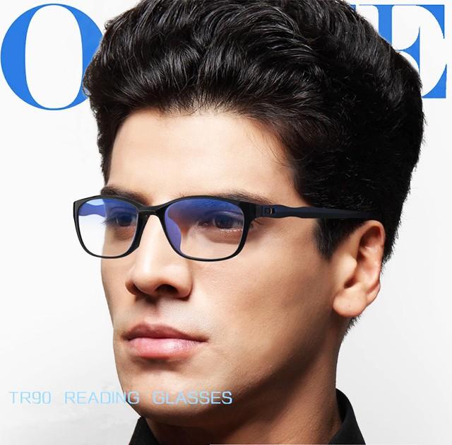 老眼鏡 シニアグラス ブルーライトカット メンズ レディース リーディンググラス 頑丈 軽量 紫外線カット UVカット +1.0 +2.0 +3.0 レッ