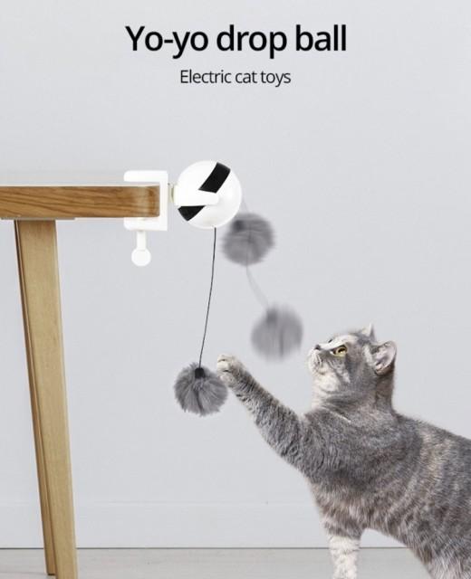 猫電動ボール おもちゃ 電気自動昇降 リフティングボール 電気 キャットティーザート