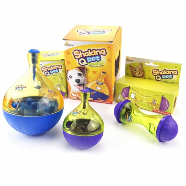 犬猫ペットおやつボール 鈴型小 ペットおもちゃ だるまボール 餌入れ ペット