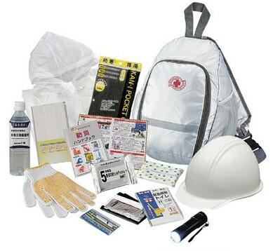 初動対応ヘルメットバッグセット 1セット 34134 防災セット 災害対策 地震対策 救急セット 避難セット 持出し品セット 緊急用 非常用 防
