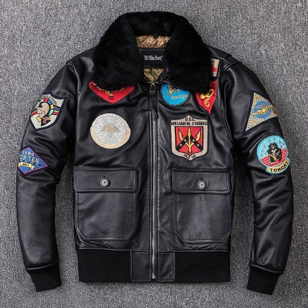 G1フライトジャケット刺繍ワッペン ブルゾン MA-1革ジャン G-1ジャケット ライダースジャケット