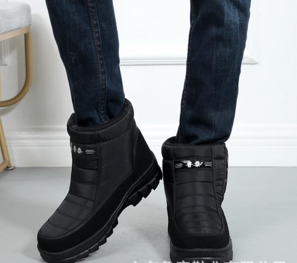 メンズ スノーブーツ 冬用 ショットブーツ 作業靴 防水 防寒 快適 防滑 お父さんに