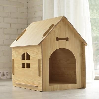 犬小屋/猫小屋 ペット屋 PET HOUSE 木製犬舎/猫舎 室内屋外犬舎/猫舎 DIY組み立て 4色 新品