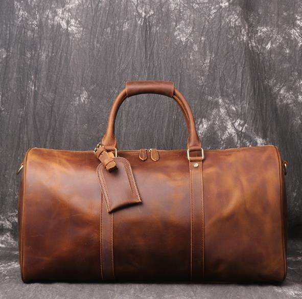 大好評☆☆重厚感溢れる ボストンバッグ メンズ 旅行鞄 レザー 大容量 レトロ 牛革 旅行バッグ