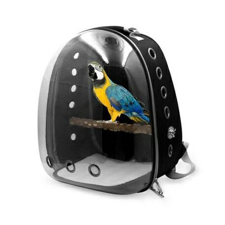 鳥用 リュック ポータブル ケージ バッグ 鳥 かご 移動 ペット インコ オウム 外出 旅行