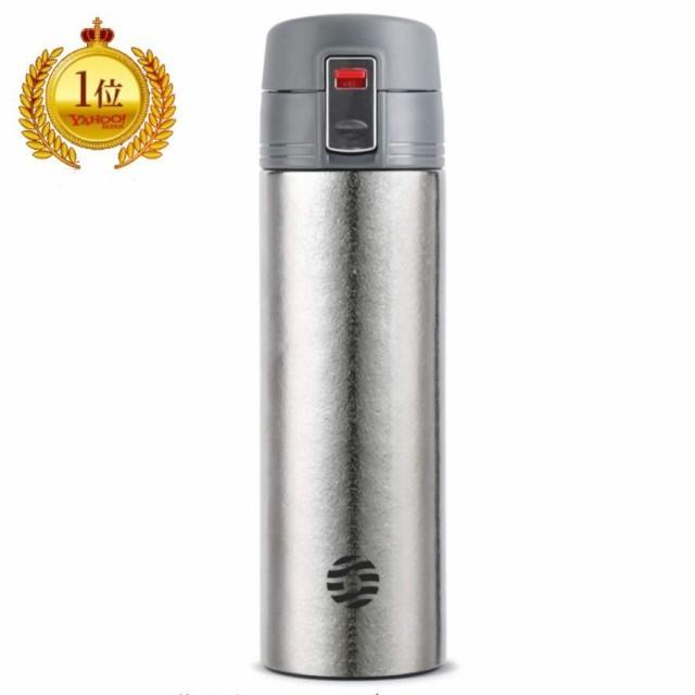 水筒 保温保冷 ワンタッチオープン マグボトル 純チタン 真空断熱