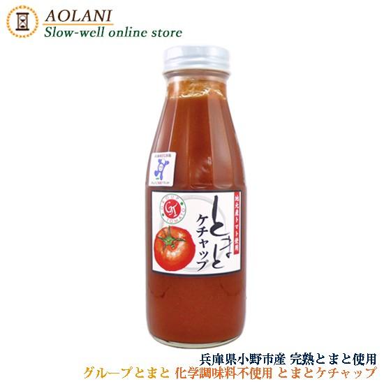 グループとまと トマトケチャップ 380g 兵庫県小野市産 化学調味料 保存料 着色料 不使用