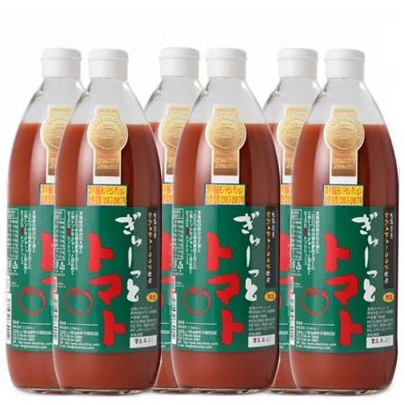 【自社製造】 トマトジュース 無塩 北海道産トマト トマトジュース 1000ml×6本入 1ケース(1箱)北海道のトマトジュース 送料無料 ぎゅー