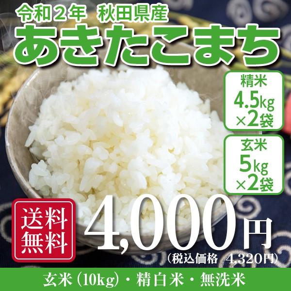 米 お米 10kg 秋田県産 あきたこまち 令和2年産 5kg×2袋