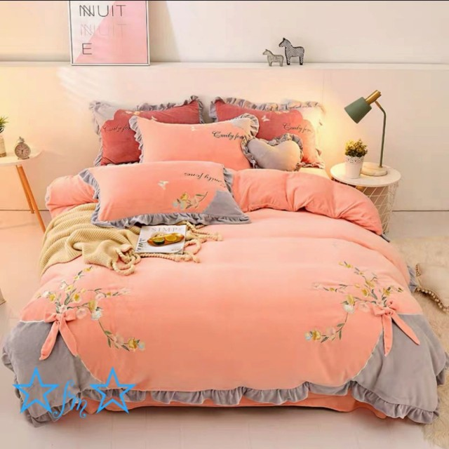 ワイドダブル ベッド用品4点セット .寝具 ボックスシーツ 枕カバー掛け布団カバー ベッドカバー 別のサイズあり