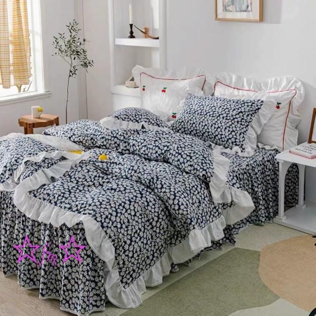 ワイドダブル ベッド用品4点セット .寝具 ボックスシーツ 枕カバー掛け布団カバー ベッドカバー 別サイズあり