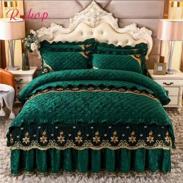 高級ワイドダブル ベッド用品4点セット .寝具 ボックスシーツ 枕カバー掛け布団カバー ベッドカバー サイズ選択可能
