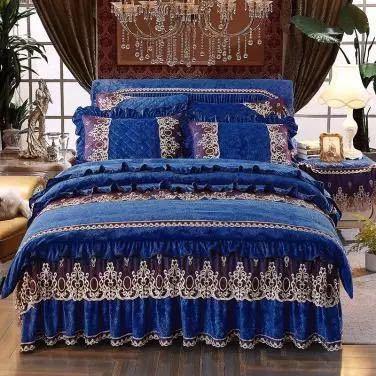 高級ベッド用品4点セット掛け布団カバー 枕カバー ベッドパッド ワイドダブルサイズ