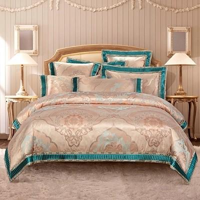 1120BS1-23新品 高級ワイドダブル ベッド用品4点セット 寝具 ボックスシーツ 枕カバー掛け布団カバー ベッドカバー