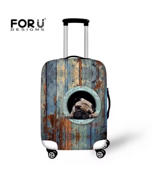 パグ犬柄スーツケースカバー ラゲッジカバーキャリーカバーカバー Lサイズ パグ雑貨