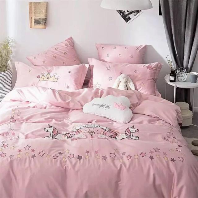ベッド用品4点セット掛け布団カバー 枕カバーワイドダブルサイズ