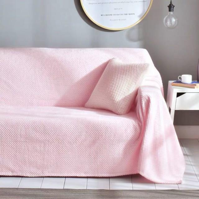 ソファーカバー ソファーシーツ 3人掛け .マルチカバー ソファー保護カバー .ベッドカバー ひざ掛 200x300cm 別のサイズあり ピンク