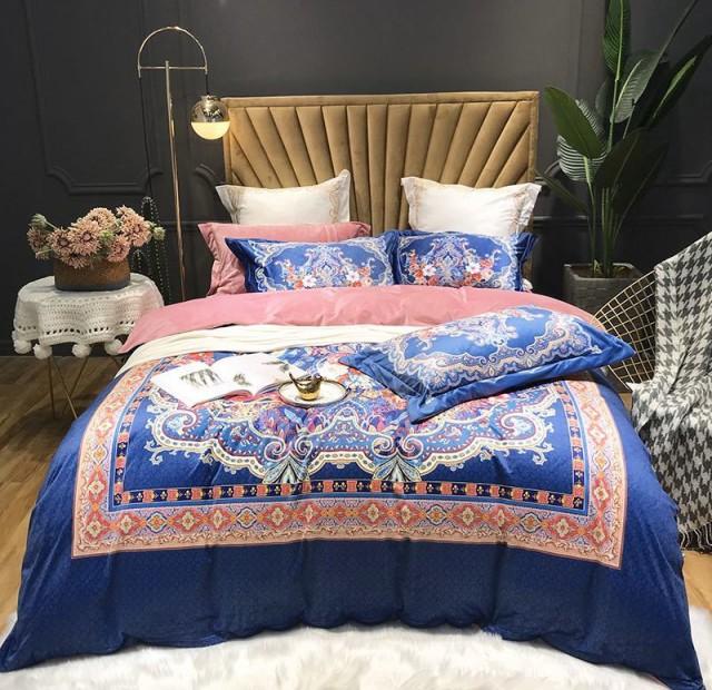 高級絨ワイドダブル ベッド用品4点セット 寝具 ボックスシーツ 枕カバー掛け布団カバー ベッドカバー