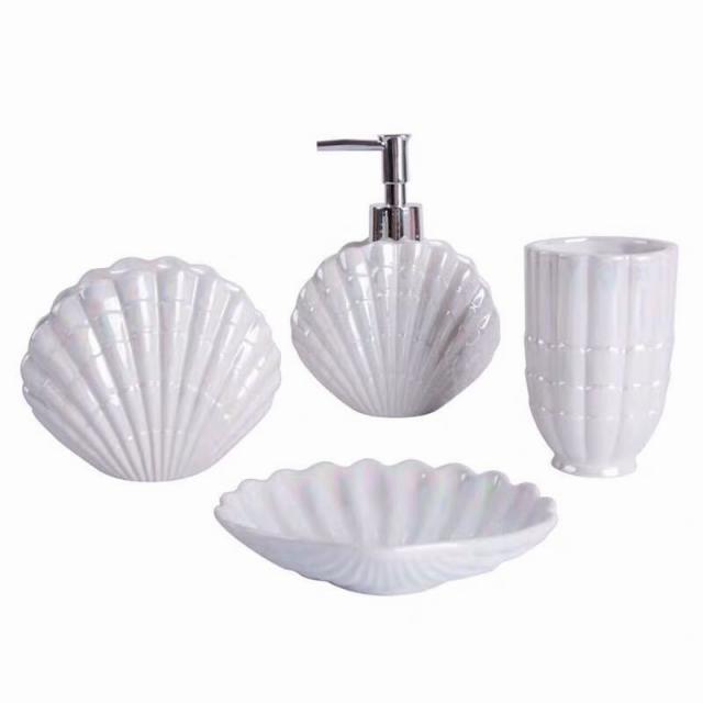 バスルームセット 5点セット ソープディスペンサー 歯ブラシスタンド 石鹸置き コップ 洗面用具
