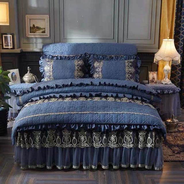 高級ベッド用品4点セット掛け布団カバー 枕カバー ベッドパッド ワイドダブルサイズ.