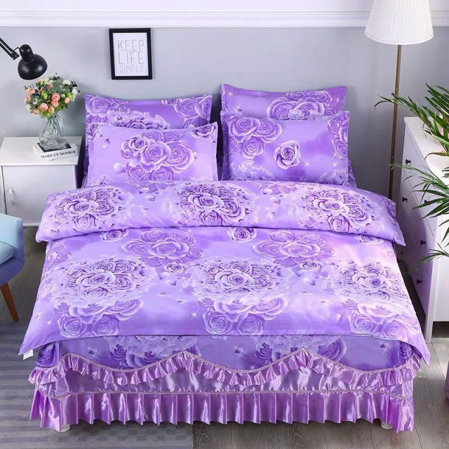 ワイドダブル ベッド用品4点セット .寝具 ボックスシーツ 枕カバー掛け布団カバー ベッドパッド 別サイズあり.