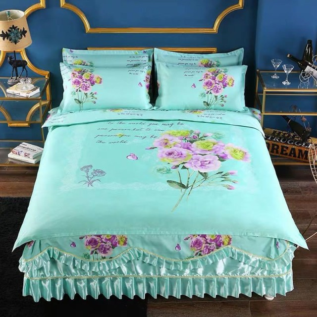 ワイドダブル ベッド用品4点セット 寝具 ボックスシーツ枕カバー掛け布団カバー ベッドパッド 別サイズあり