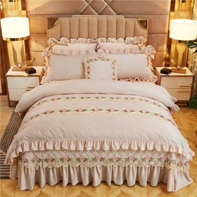 高級ワイドダブル ベッド用品4点セット 寝具 ボックスシーツ 枕カバー掛け布団カバー ベッドカバー 別サイズあり.