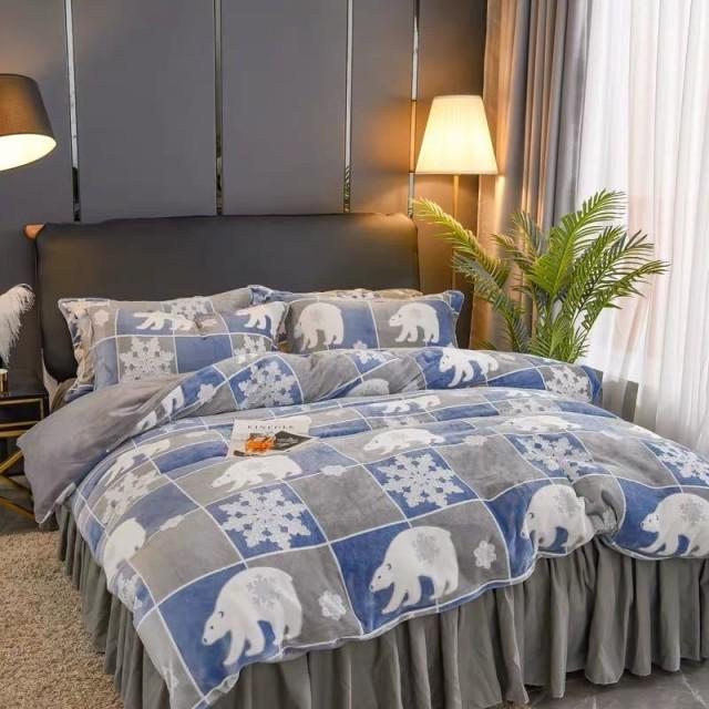 ワイドダブル ベッド用品4点セット 寝具 ボックスシーツ 枕カバー掛け布団カバー ベッドカバー .別サイズあり