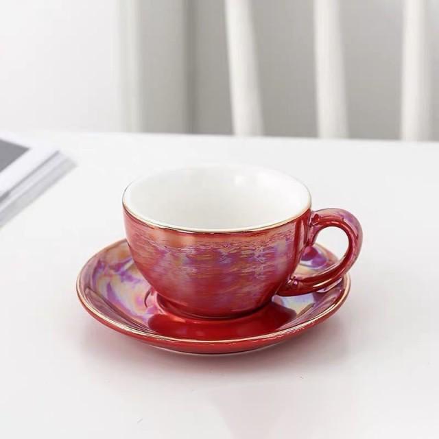 ティー・コーヒーカップセット カップ&ソーサー4客セット 陶磁器ティーセット