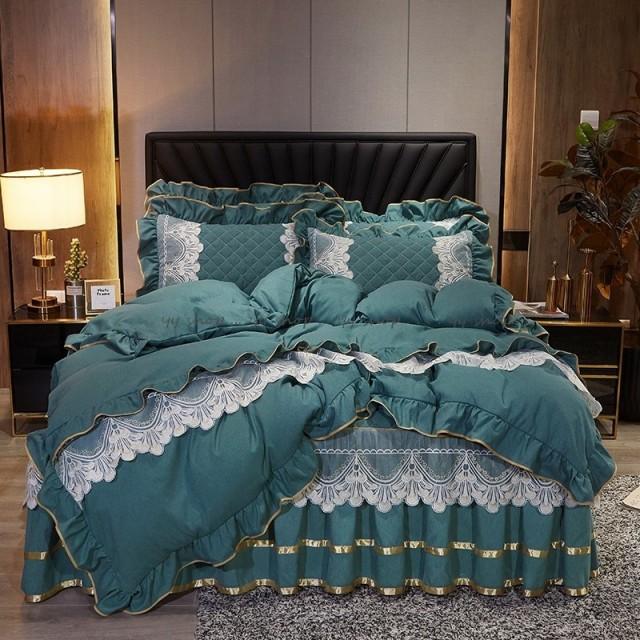 1120BS8-1新品 高級ワイドダブル ベッド用品4点セット 寝具 ボックスシーツ 枕カバー掛け布団カバー ベッドカバー