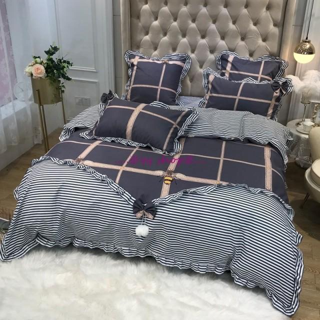 1120BS11-3新品 高級ワイドダブル ベッド用品4点セット 寝具 ボックスシーツ 枕カバー掛け布団カバー ベッドカバー