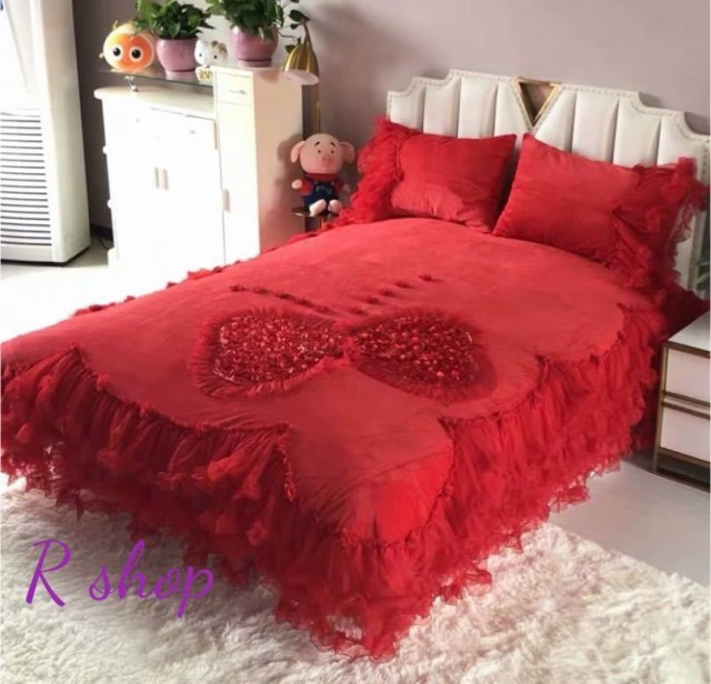 A高級ワイドダブル ベッド用品4点セット 寝具 ボックスシーツ 枕カバー掛け布団カバー ベッドカバー サイズ選択可能