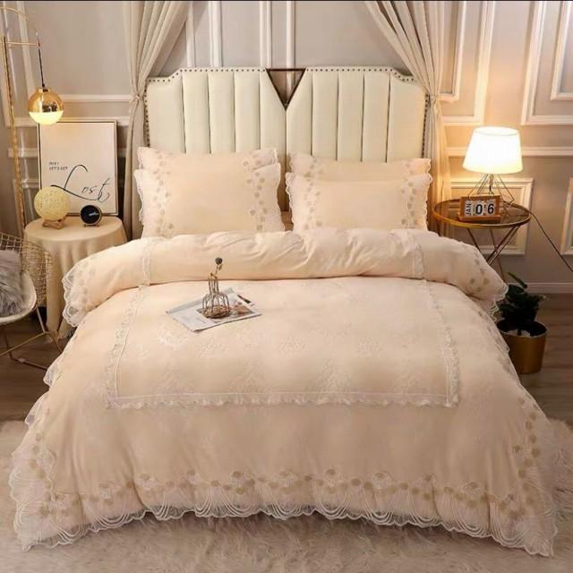 高級ワイドダブル ベッド用品4点セット .寝具 ボックスシーツ .枕カバー掛け布団カバー ベッドカバー 別サイズあり