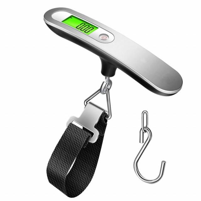 旅行はかり 荷物 吊りはかり 電子はかり 携帯式 デジタル スケール 吊り下げ式 測り 最大50kg 便利 小型 軽量 LCC用 旅行 アウトドア ホ