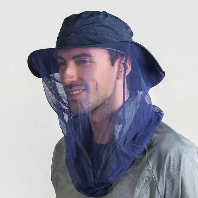 防虫ネット 帽子 ネット 虫除け 蚊よけ メッシュ カバー 携帯 頭部 紫外線対策 農作業 釣り ハイキング アウトドア