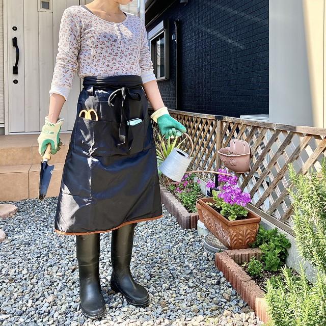 ガーデニング エプロン ショート 農作業 農業女子 レディース 女性用 園芸 作業服 作業着 農作業着 野良着 おしゃれ 可愛い ショートエプ