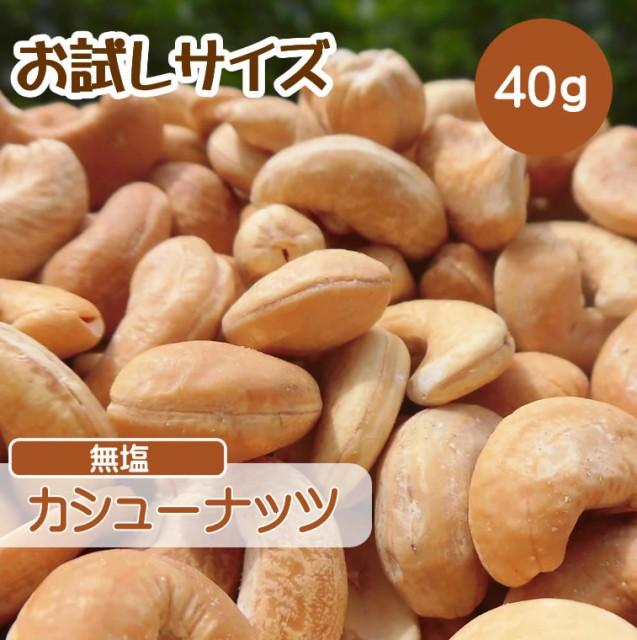 カシューナッツ 40g 無塩 ポイント消化 深煎り ロースト ナッツ 小分け ギフト お試しサイズ 送料無料 CFL