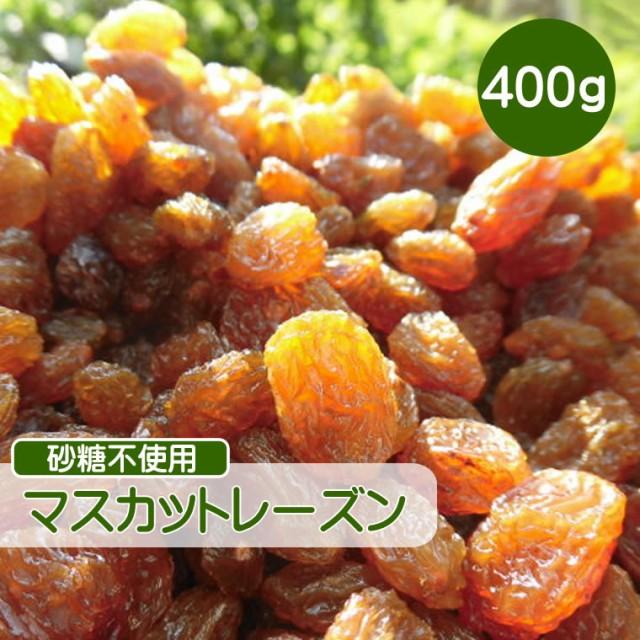 ドライフルーツ レーズン 400g マスカットレーズン 砂糖不使用 無添加 ぶどう ブドウ 干しブドウ 無糖 小分け ギフト チャック付き CFL