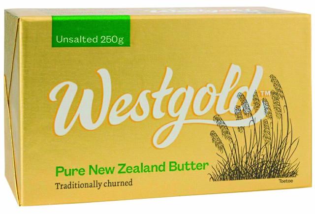 NZ産 グラスフェッドバター ウエストランド無塩バター 250g×10個セット 【チルド】ウエストゴールド