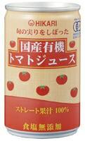 ヒカリ 国産有機トマトジュース(食塩無添加) オーサワジャパン 160g×4個